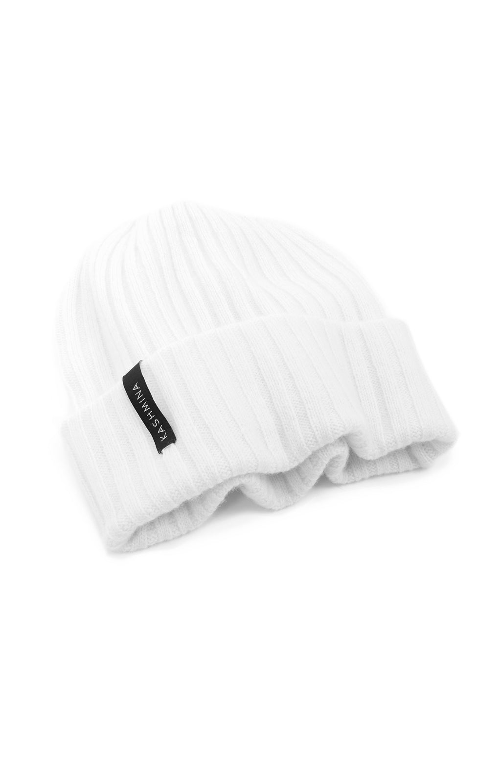 cashmere cap Fat rib in 100% cashmere by Kashmina
