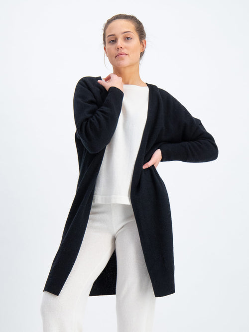 Cashmere cardigan Flow Knee from kashmina 100% cashmere