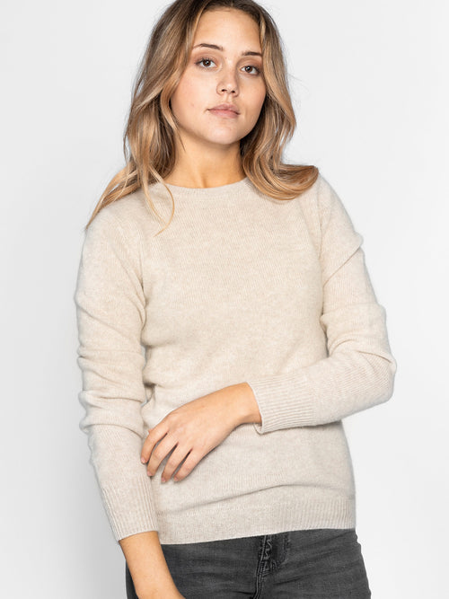 Cashmere sweater round neck from Kashmina 100% pure cashmere