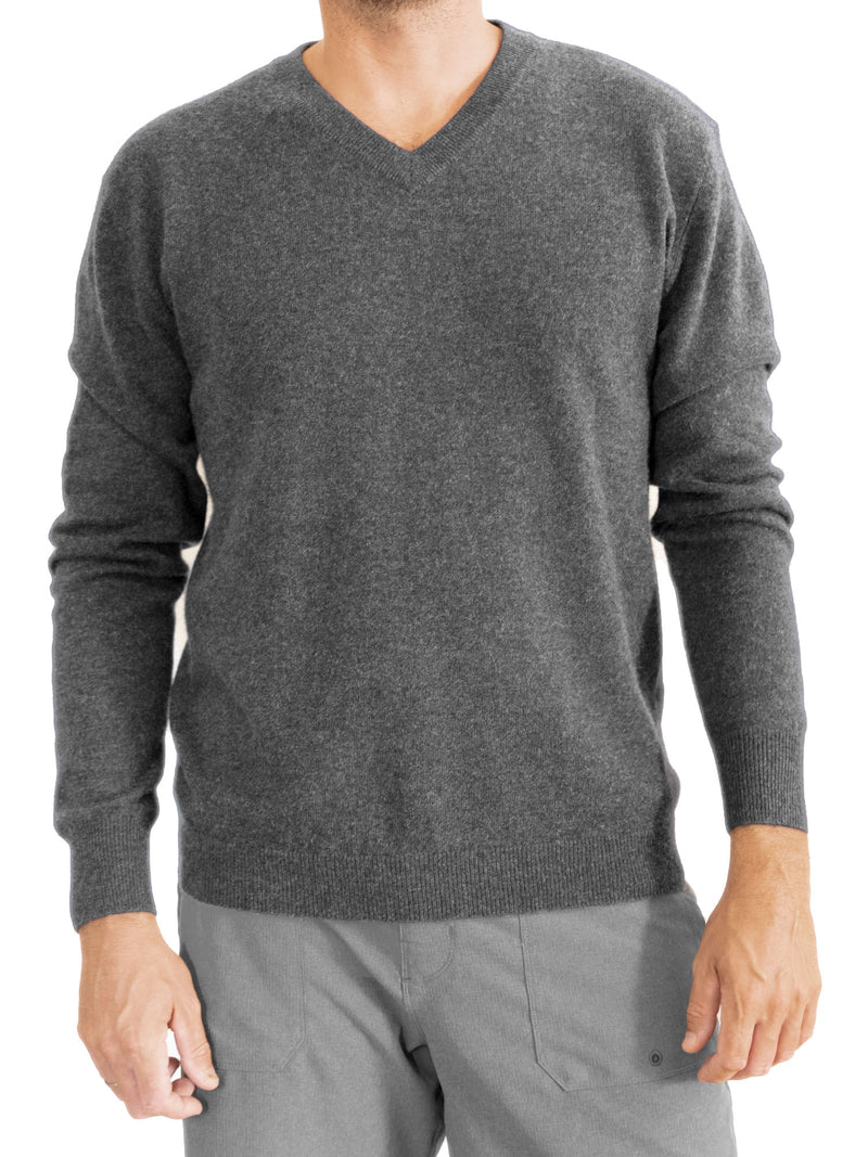 Men's cashmere sweater v-neck Kashmina  Edit alt text