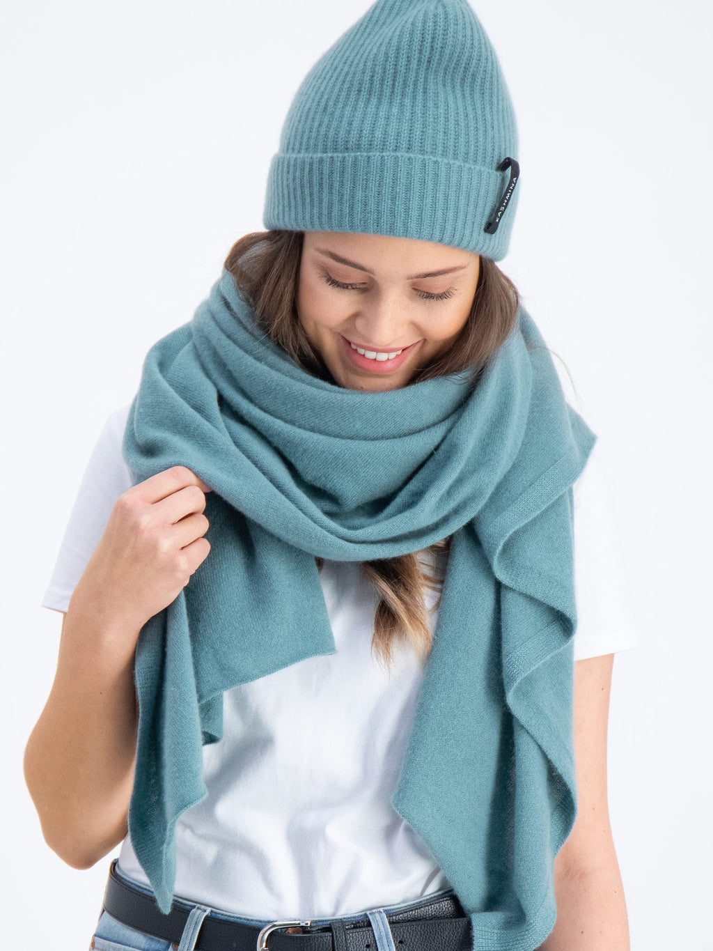 cashmere scarf Signature in 100% cashmere by Kashmina