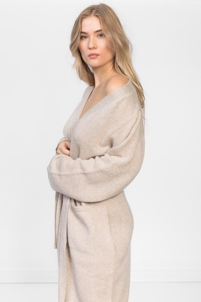 cashmere robe Lux in 100% cashmere by Kashmina