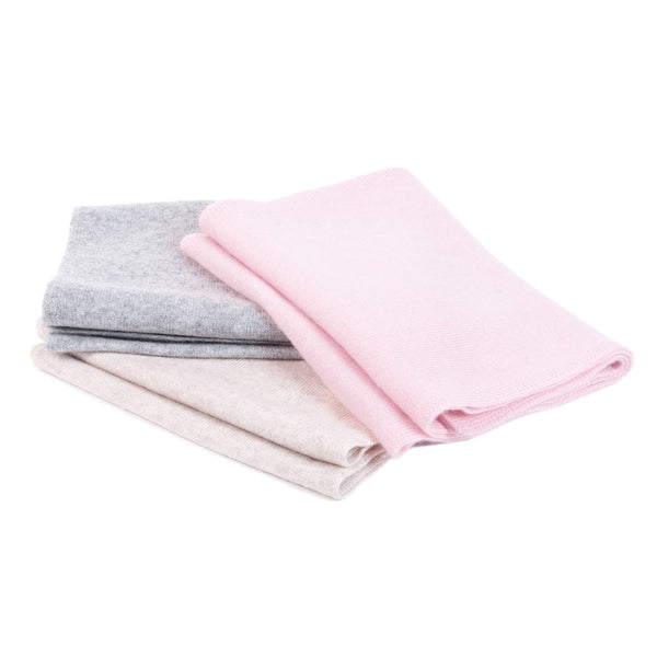 Children scarf in 100% cashmere - powder pink