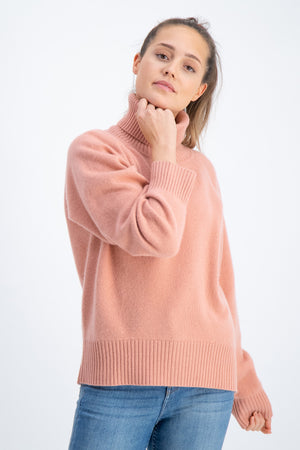 kashmina cashmere sweater milano dusty peach wool norwegian design sustainable fashion