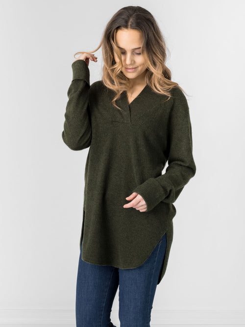 cashmere sweater big shirt in 100% cashmere by Kashmina