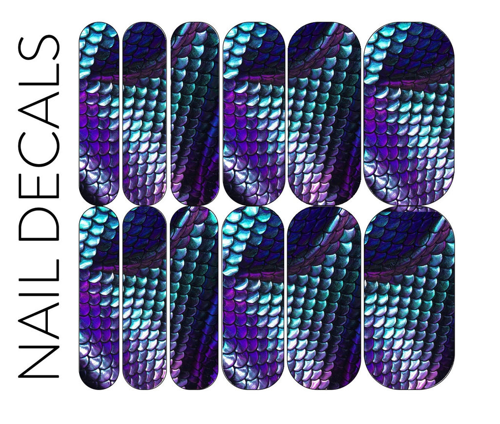 Mermaid Scale Decals