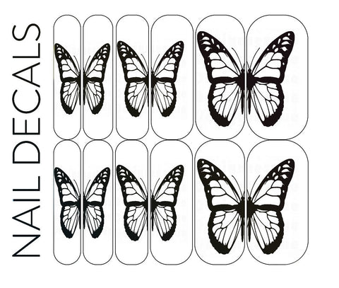 Black Butterfly Decals - CLEAR