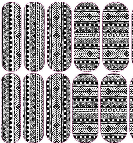 Black & White African Print Decals