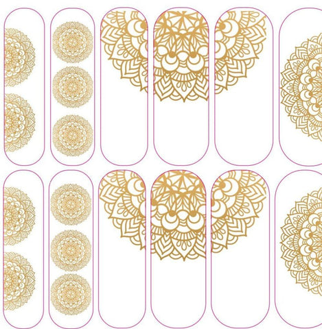 Gold Mandala Decals