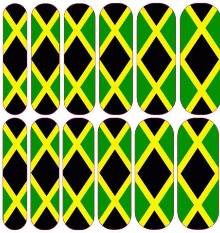 Jamaican Flag Decals