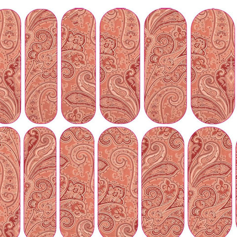 Pink Paisley Decals