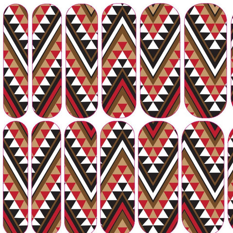 Red African Print Decals