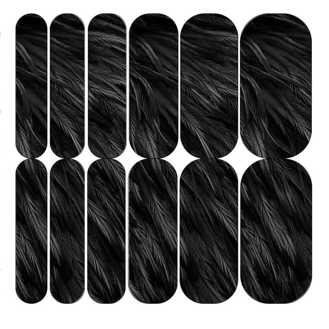 Black Feather Decals