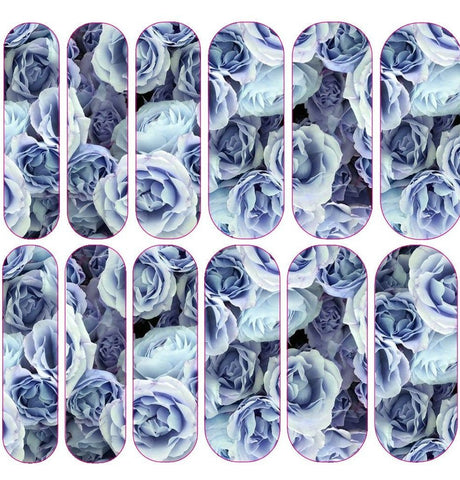 Blue Bloom Decals