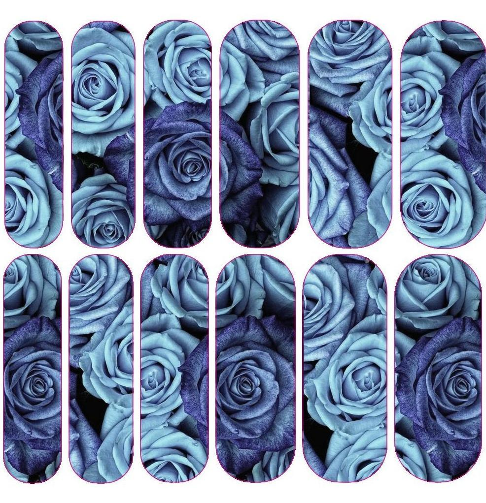 Blue Rose Decals