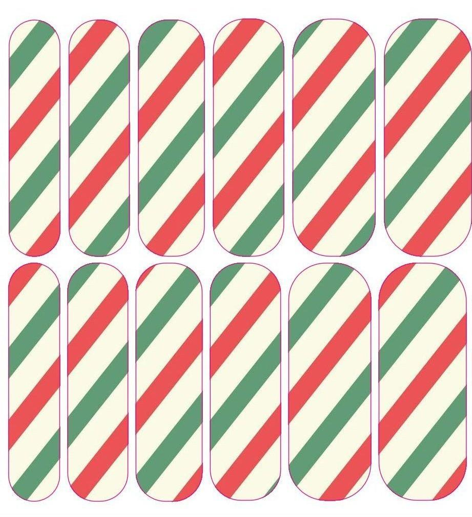 Candy Cane Decals