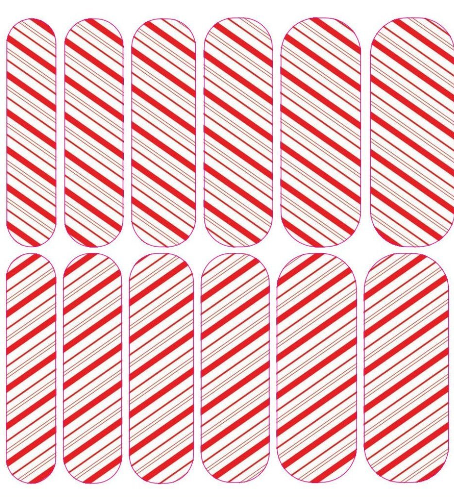 Candy Cane 2 Decals