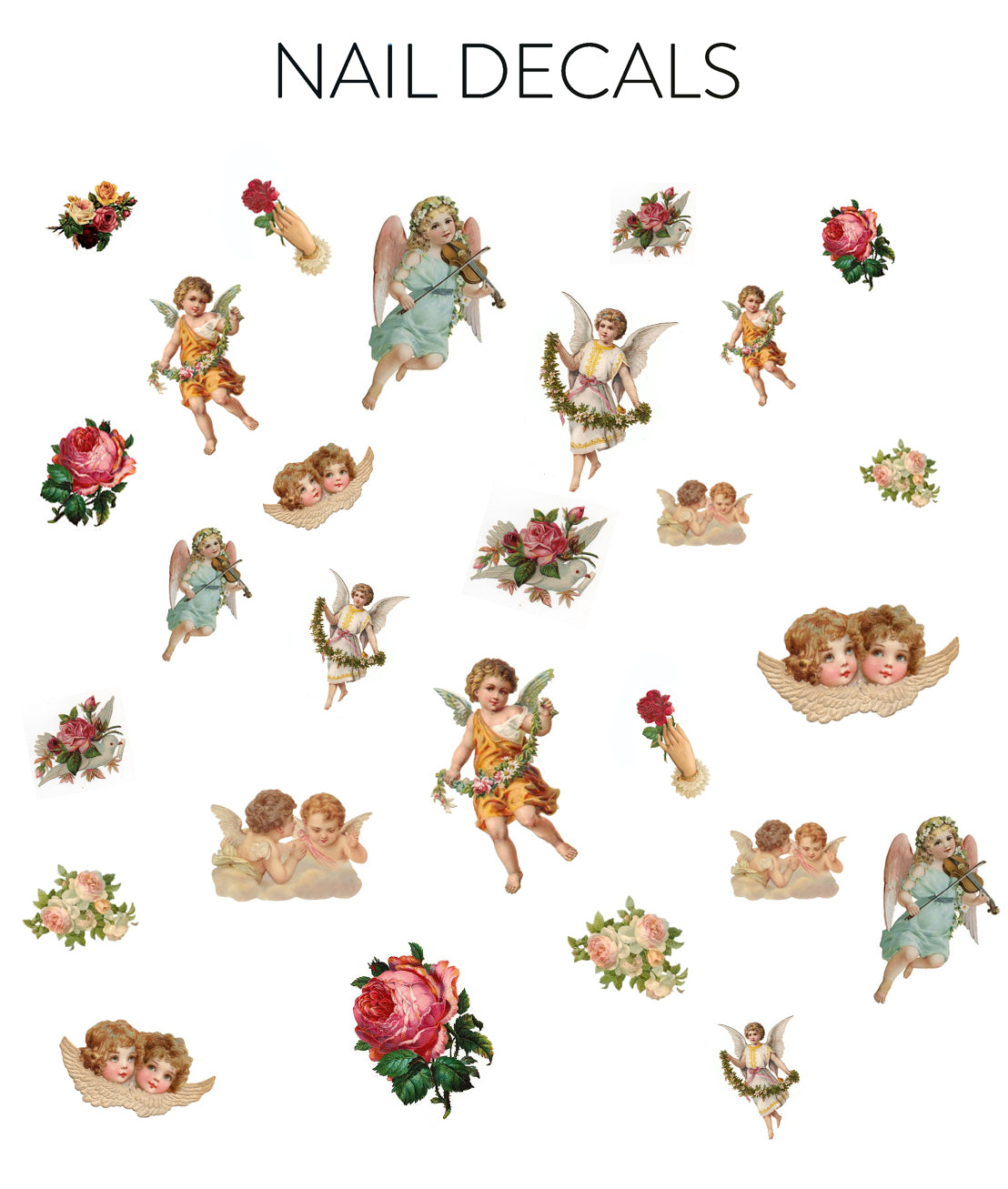 Cherubs Decals - CLEAR