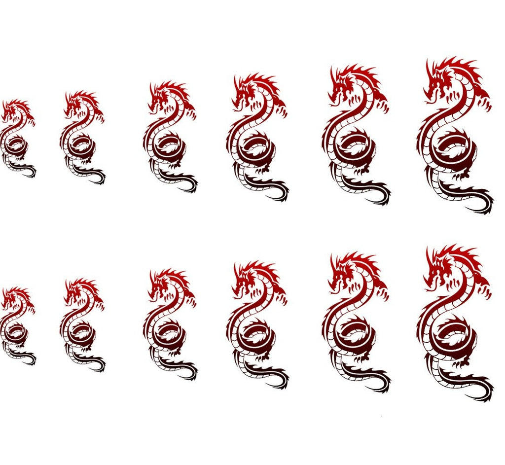 Ombre Dragon Decals