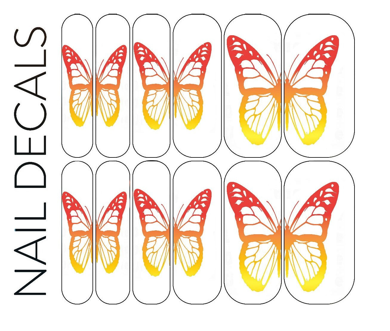 Fire Butterfly Decals - CLEAR