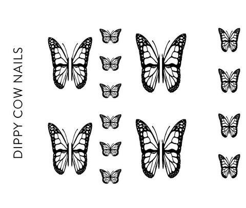 Black Butterfly 2 Decals - CLEAR