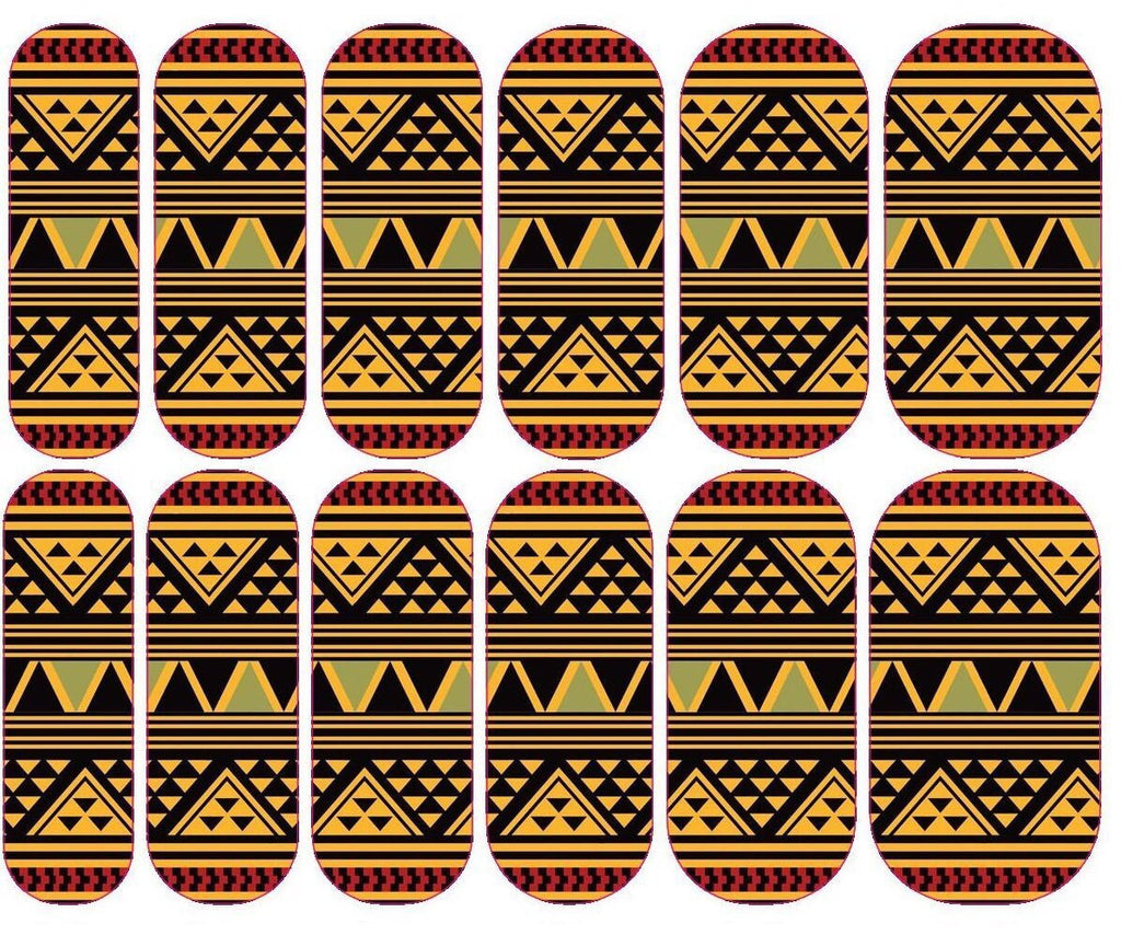 Light African Print Decals