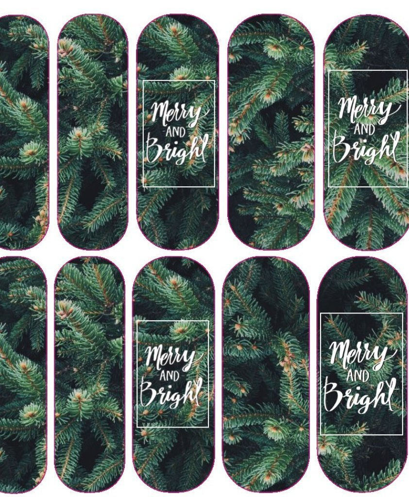 Merry & Bright Decals