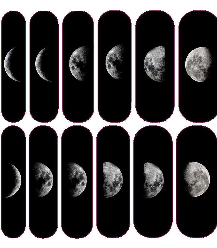 Moon Phase Decals
