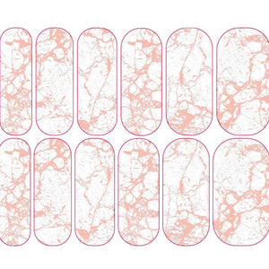 Pastel Pink Marble Decals - CLEAR