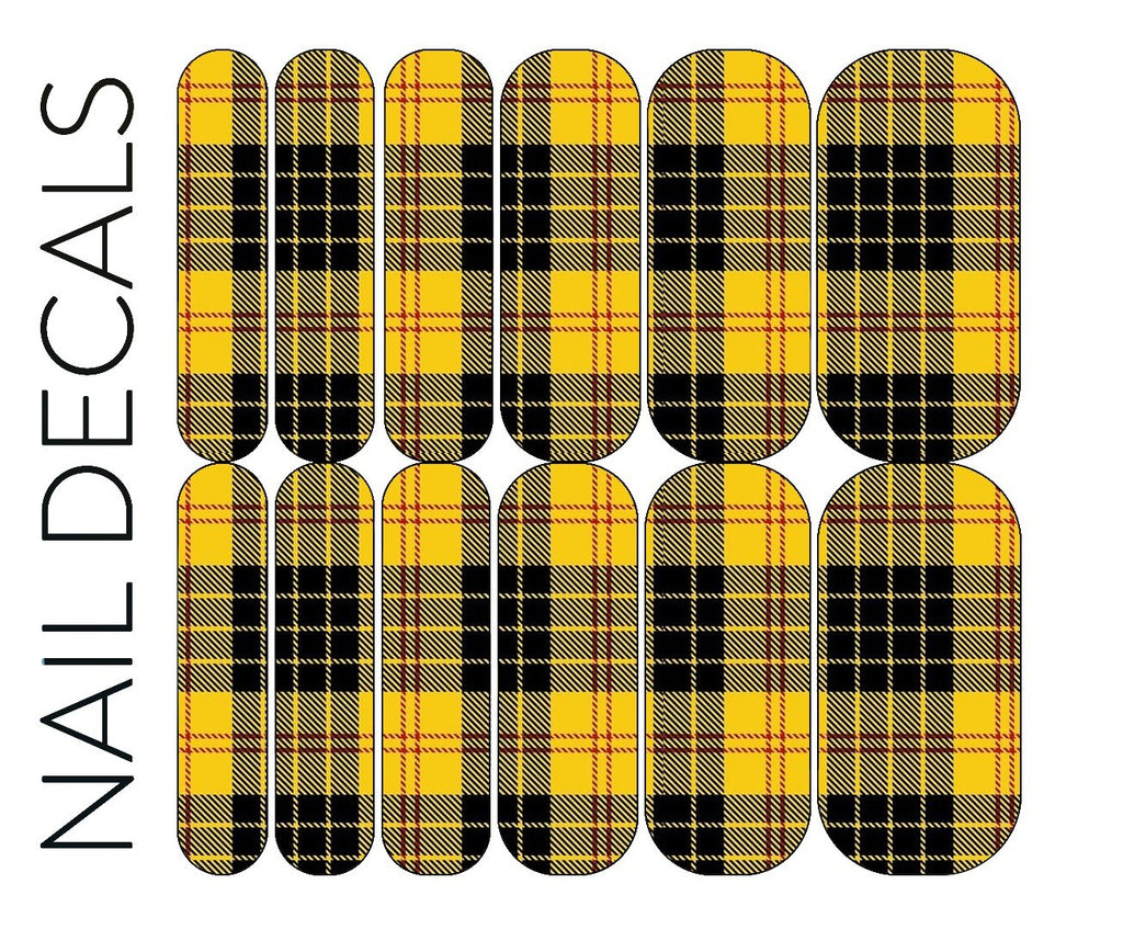 Yellow Plaid Decals