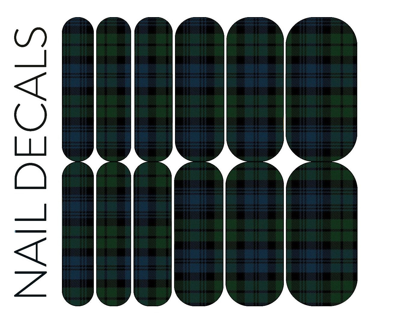 Green Plaid 1 Decals