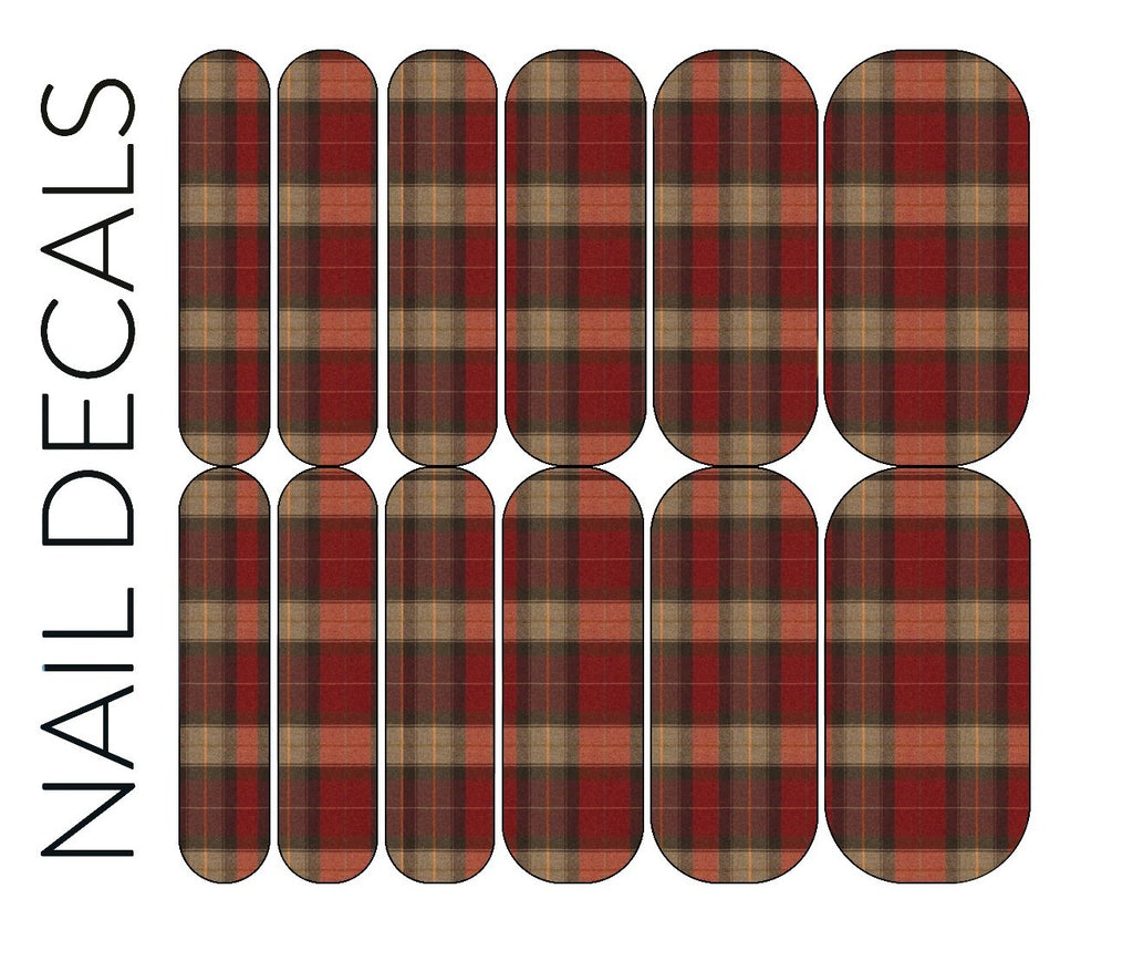Red Plaid 5 Decals