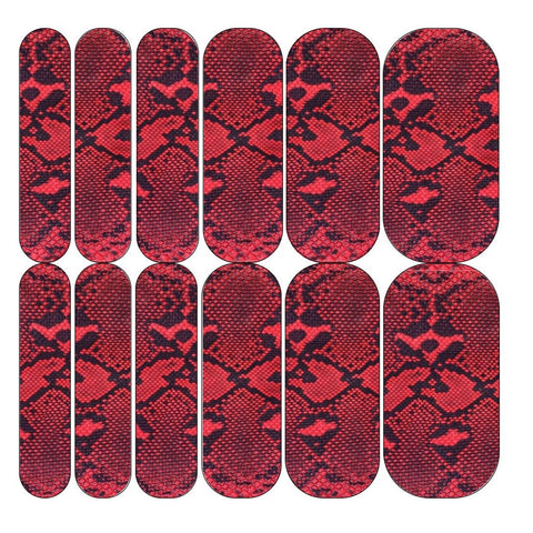 Red Snake Decals