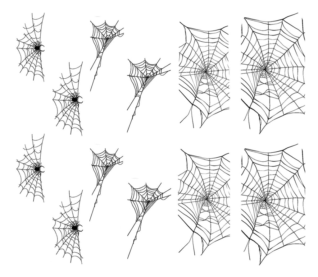 Black Spiderweb Decals