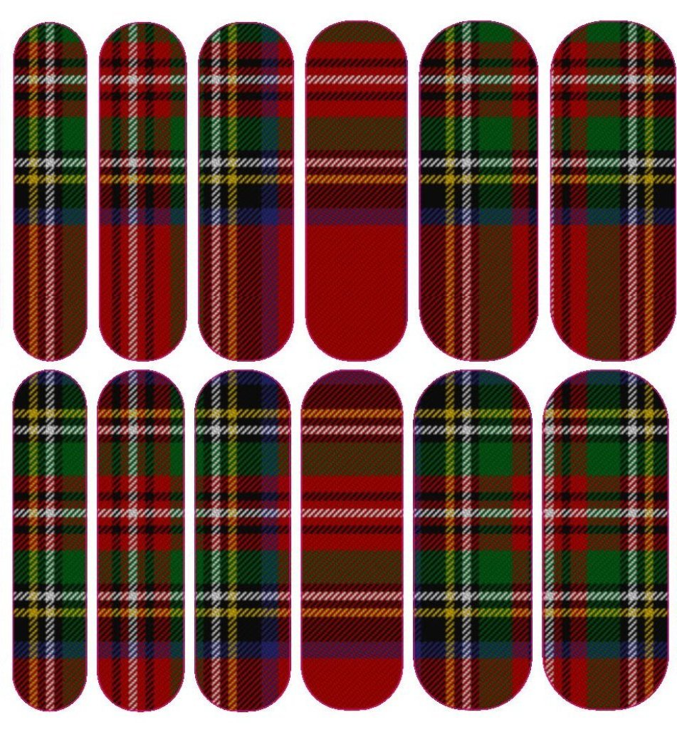 Red Plaid 1 Decals