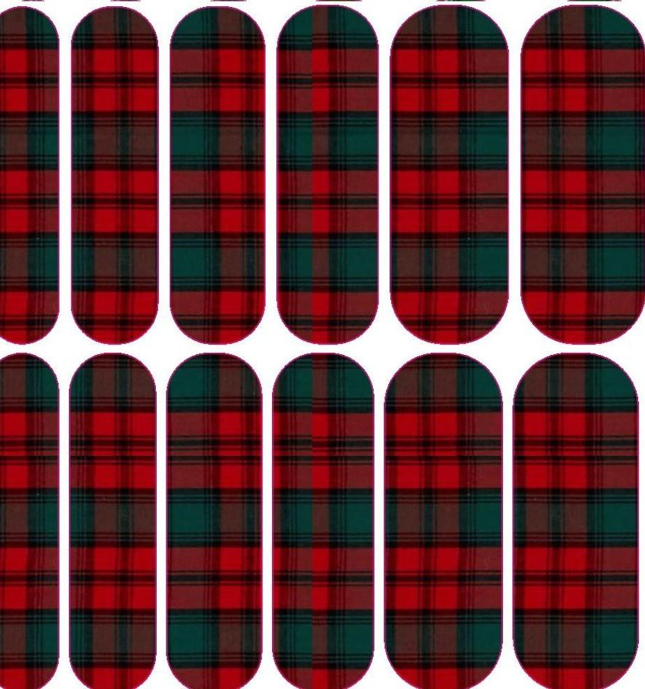 Red Plaid 2 Decals