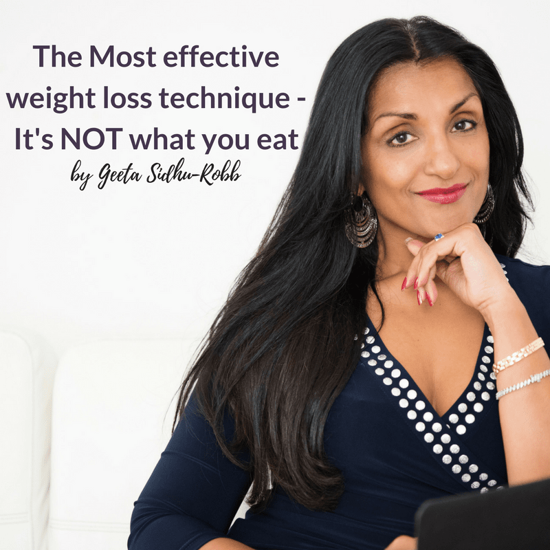 The Most effective weight loss technique - It's NOT what you eat