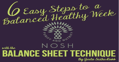 The Balance Sheet Technique - 6 Easy Steps to a Healthy Week