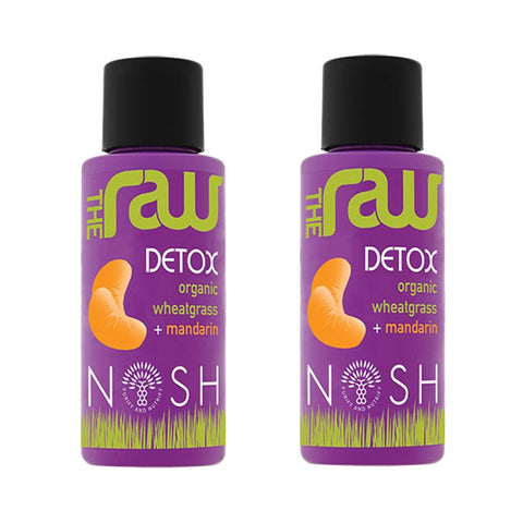 Organic Raw Wheatgrass with Mandarin Juice-2x50ml - Nosh Detox