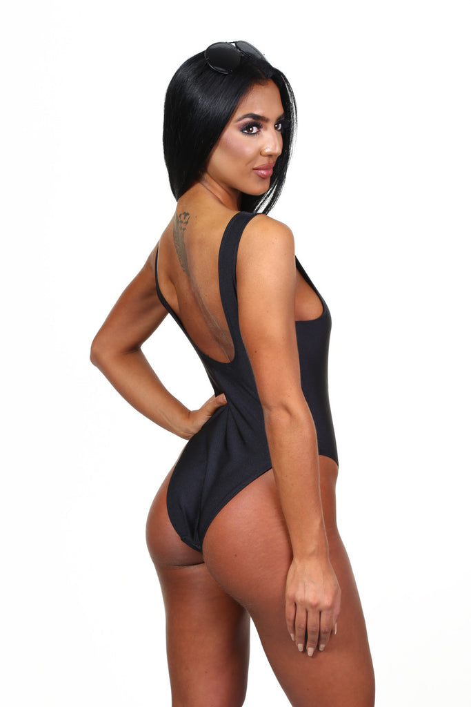 Pool Party Wifey Black Swimsuit