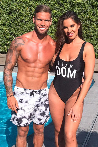 Pool Party Team Dom Swimsuit ( As seen on Love Islands Jessica Rose )