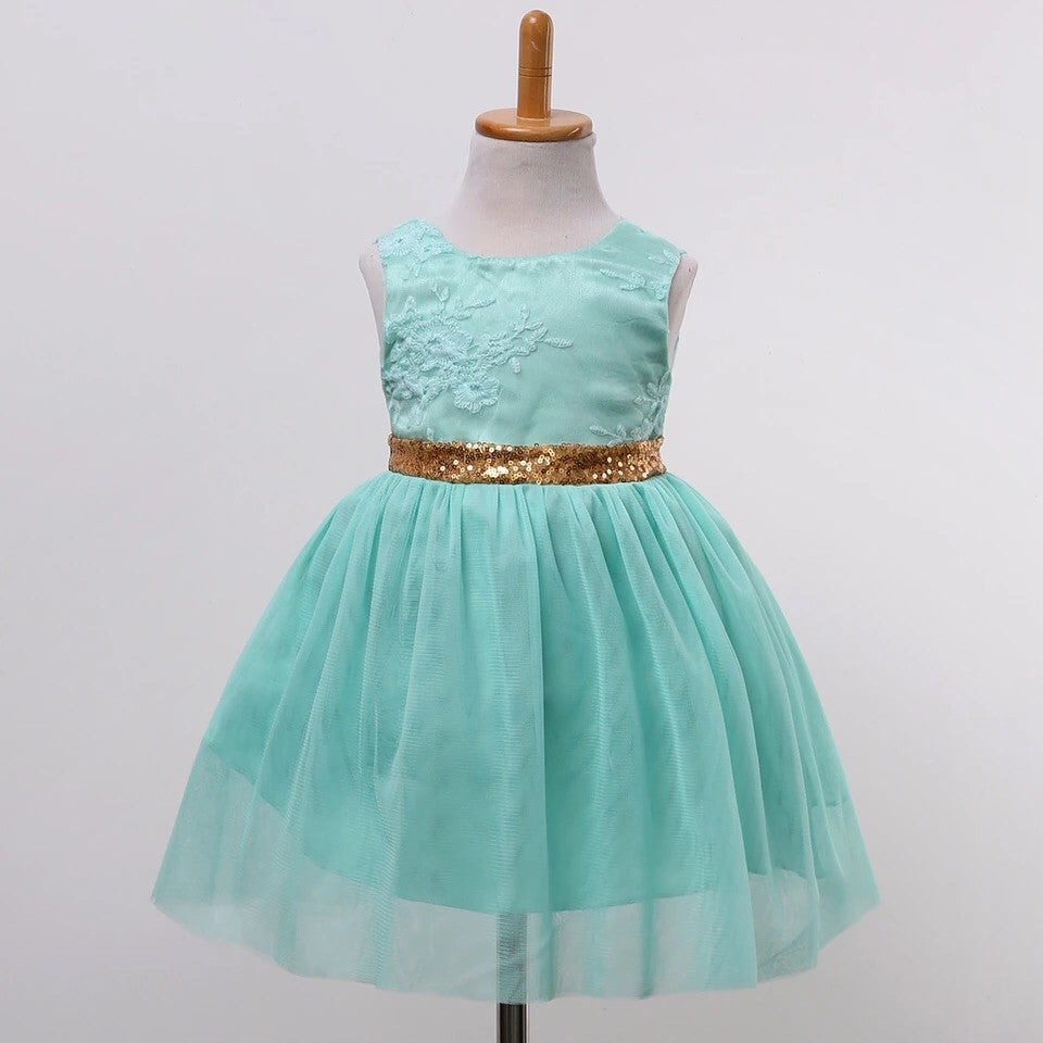 Princess party dress mint and gold - EpicMarketCollective