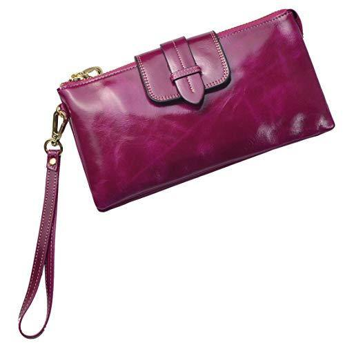 pretty cool choose original first look Bveyzi Womens Leather Smartphone Wristlet Clutch Wallet with Shoulder Strap