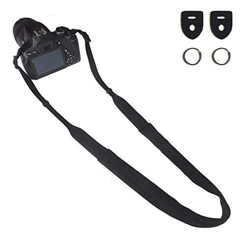 CHMETE Can be Washed Camera Neck Strap for Nikon Sony Canon (Black)