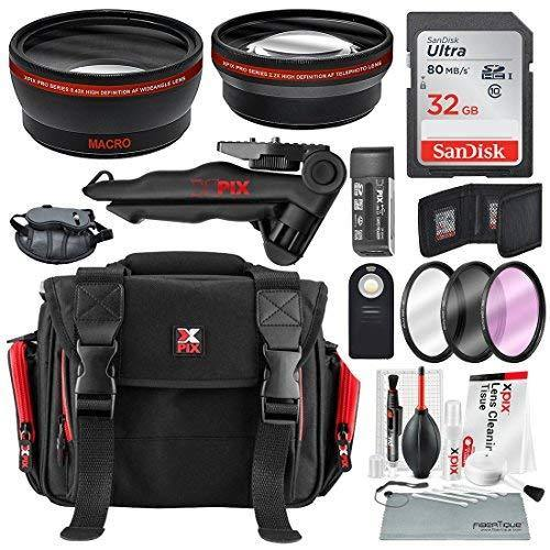 29ee6077a758 58MM HD 2.2x Telephoto and 0.43X Wide Angle + Xpix Photo Accessories w/  Deluxe Photo and Travel Bag
