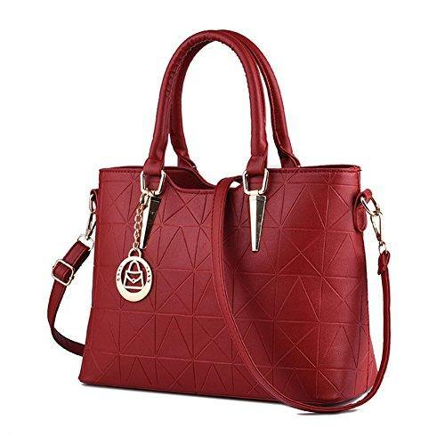 01e97d433b4e LIZHIGU Womens Leather Shoulder Bag Tote Purse Fashion Top Handle Satchel  Handbags