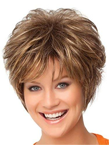 Other Hair Extensions Weaves Women Wigs Brown Short Curly With