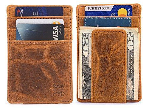 6bc43990cc7d RAWHYD Top Grain Leather Slim Minimalist Wallet For Men | Made From Genuine  Buffalo Leather