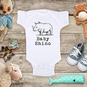 Baby Rhino Rhinoceros animal zoo trip baby onesie Infant, Toddler & Youth Soft Shirt