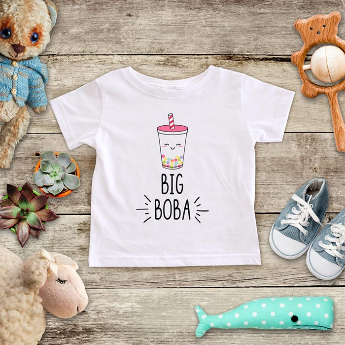 Big Boba cute Asian Drink Baby Onesie Bodysuit Infant & Toddler Soft Fine Jersey Shirt - Baby Shower Gift